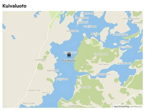 Kuivaluodon noin 4 hehtaarin kokoinen luonnonsuojelusaari sijaitsee lähellä Ellivuorta.