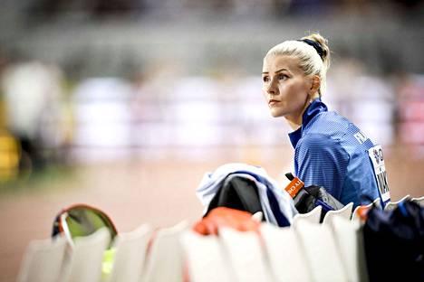 Kristiina Mäkelä on ollut vuosina 2016–19 mukana neljässä arvokisafinaalissa. Lontoon MM-kisoissa 2017 hän karsiutui finaalista mutta teki karsinnassa kauden parhaan tuloksensa.