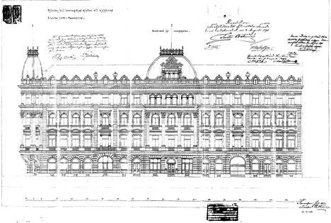 Tätä palatsia ei koskaan rakennettu Tampereen keskustaan kuin osittain. Uusrenessanssipalatsin vasemmanpuoleinen torni olisi tullut Kauppakadun ja Kuninkaankadun kulmaan.