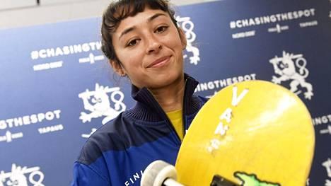 Lizzie Armanto on yksi Suomen joukkueen menestystoivoja. Kuva vuodelta 2019.