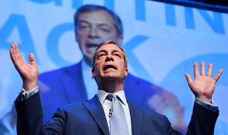 Nigel Faragen tammikuussa perustamalle Brexit Partylle odotetaan äänivyöryä Britannian EU-vaaleissa. Farage on ollut Britannian EU-eron näkyvin kellokas.