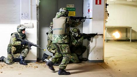 Puolustusvoimat harjoitteli maaliskuussa 2021 yhdessä pelastuslaitoksen ja poliisin kanssa sittemmin puretussa Hippostalossa Tampereella