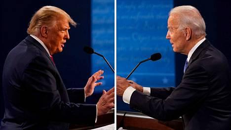 Donald Trump ja Joe Biden kohtasivat viimeisessa vaaliväittelyssä.