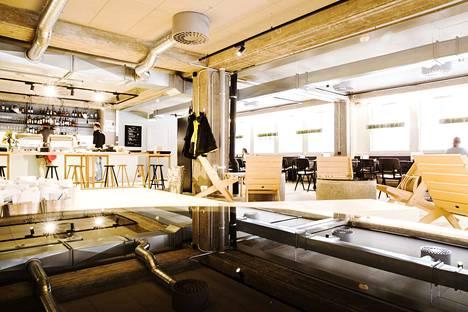 Tältä Tullin saunan tiloissa näytti, kun sen ravintola aukesi viime vuonna.