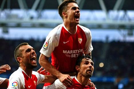 Sevillan kärki Nolito juhli kasan päällimmäisenä voittoa Espanyolista La Ligan avauskierroksella.