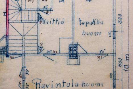 Urheilutalo Jukolan alkuperäisissä piirustuksissa oli myös tupakkahuone.