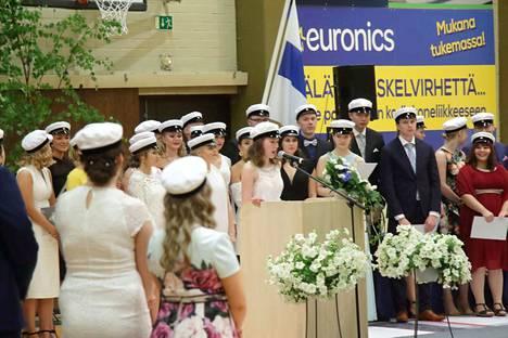 Nokian lukion ylioppilaiden juhlapuheen piti Liida Pihlavirta.