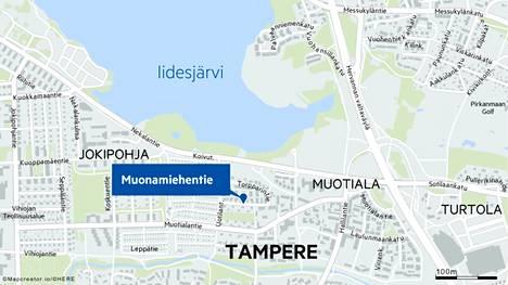 Pirkanmaan pelastuslaitos sai hälytyksen Tampereen Muotialaan Muonamiehentielle torstai-iltana.
