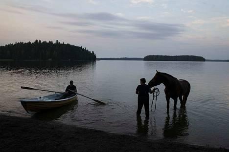Toijalan satamassa on myös lemmikkieläinten uimapaikka. Kesällä 2018 Sauli ja Johanna Tammi käyvät uittamassa Valtti- hevostaan Toijalan sataman kotieläinrannassa.
