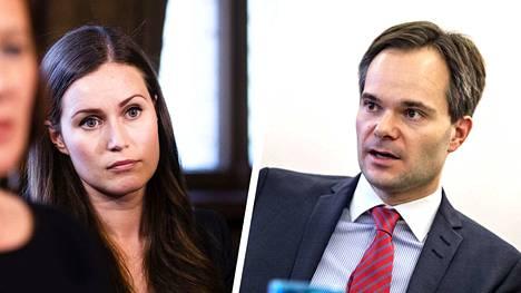 Sanna Marin ja Kai Mykkänen ovat kommentoineet ratahankkeita lauantaina.
