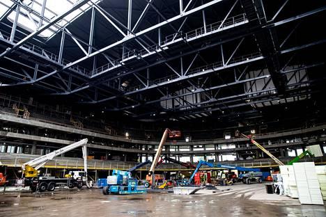 SRV rakennuttaa Tampereella muun muassa kansiareenaa.