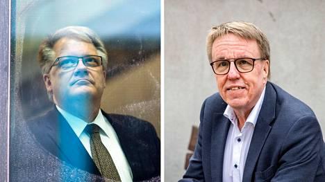 Pirkanmaan liiton maakuntajohtaja Esa Halmeen (vas.) ja aluekehitysjohtaja Jukka Alasentien tehtäviin haetaan seuraajia.