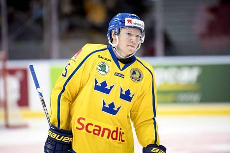 Ruotsalaispuolustaja Andreas Borgman (kuvassa) muodostaa ennakkotietojen perusteella pakkiparin maanmiehensä Jakob Stenqvistin kanssa.