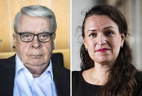 Kalervo Kummola, 75, ja Anna-Kaisa Ikonen, 43, ja ovat kokoomuksen pormestariehdokkaat Tampereella.