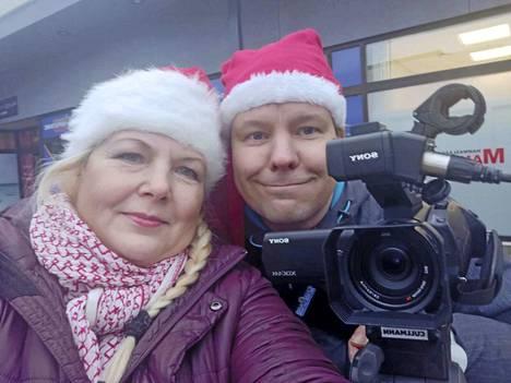 Livelähetystä tekevät Susanna Palm ja Timo Koskensalo