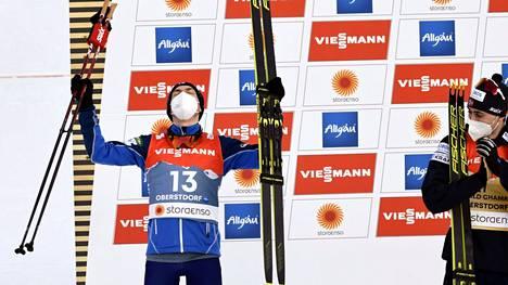 Ilkka Herola (oik.) voitti MM-hopeaa perjantaina.