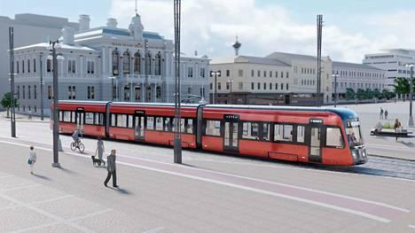 Pitkän keskustelun jälkeen Tampereen ratikasta tuli punainen, mutta nyt siis ainakin kolme ratikkaa teipataan kokonaan mainoksilla.