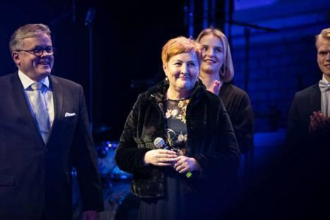 Porin kaupunginjohtaja Aino-Maija Luukkonen oli tilaisuudessa läsnä.