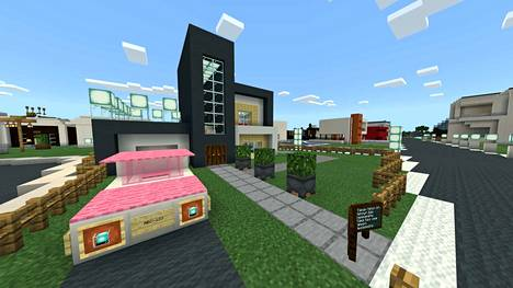 Neljäsluokkalaisen Iida Vehmasahon suunnittelema ja rakentama talo.