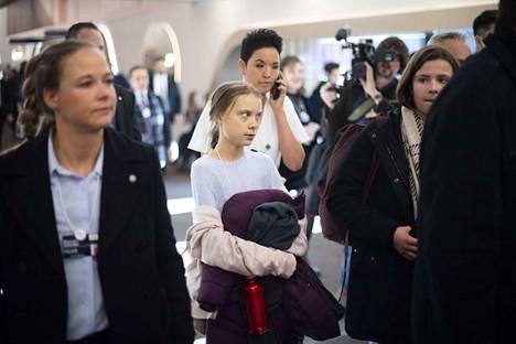 17-vuotias ilmastoaktivisti Greta Thunberg sai Davosin talousfoorumissa paljon huomiota.