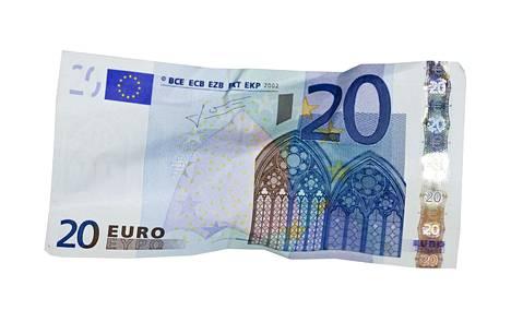 Tekstaripalstalla muistutetaan, että kaikilla ei ole tilillä rahaa, että voisi maksaa pankkikortilla ostoksensa kaupassa.