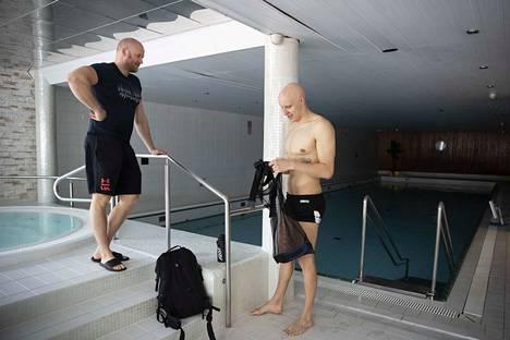 Valmentaja Eetu Karvoselta ja Matti Mattssonilta on vaadittu mielikuvitusta harjoitusten laatimisessa tänä keväänä.