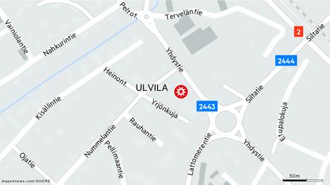 Onnettomuus sattui Nummelantien varrella olevan kaupan pihassa.