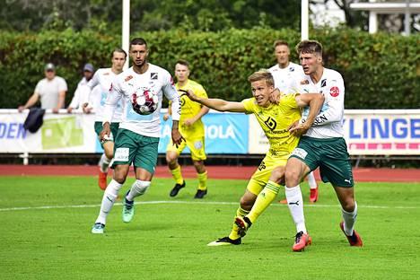 Lauri Ala-Myllymäen Ilves pystyi vastaamaan kovaan kaksinkamppailupeliin, vaikka IFK painoikin päälle.