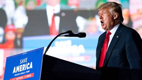 Donald Trump puhui kannattajilleen 25. syyskuutta Georgian osavaltiossa.