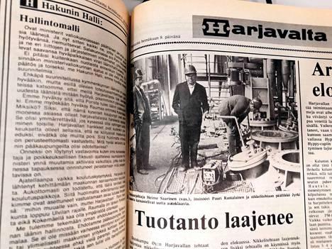 Harjavalta-lehti uutisoi Outokumpu Oy:n uudesta investoinnista heinäkuussa 1981.