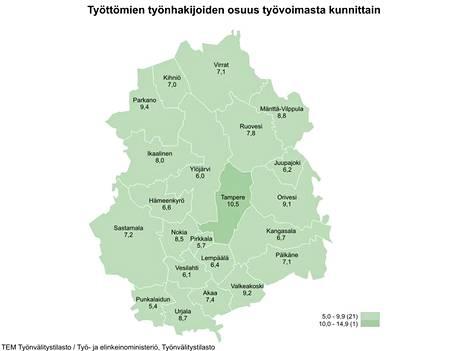 Pirkanmaan työttömyys kasvaa, mutta Mänttä-Vilppulassa tilanne oli marraskuussa päinvastainen.