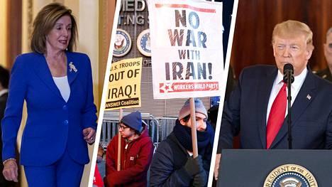 Puhemies Nancy Pelosi (vas.) kertoi äänestyksestä keskiviikkona.