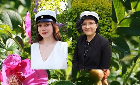 Merrit Kaleva ja Eerika Lampén ovat kevään ylioppilaita