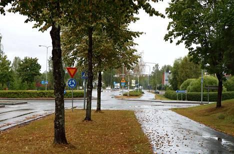 Poliisin arvion mukaan epäilty raiskaus tapahtui muutama sata metriä Paunun kiertoliittymästä Jämsänkosken suuntaan.