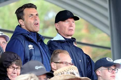 Harri Halme (vasemmalla) manageroi Ollia viiden vuoden ajan.