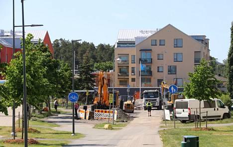 Naantalin keskustaan on valmistunut kerrostaloja.
