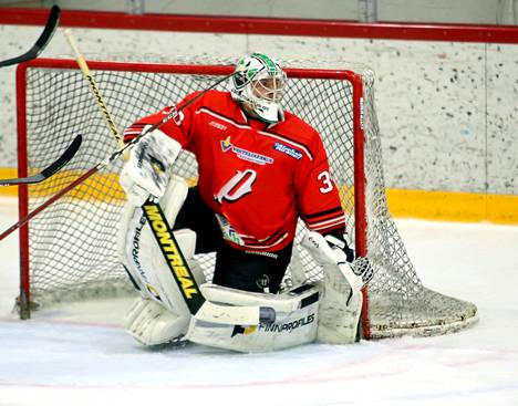 Tomi Risteli torjui tähän asti tällä kaudella Nokian Pyryn Suomi-sarjan joukkueessa.
