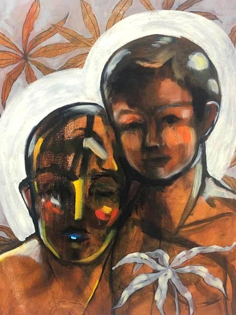 Näyttelyjulisteen teoksena on Madonna ja lapsi.