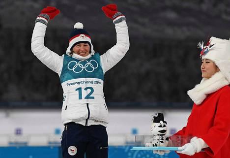 Veronika Vitkova saavutti pikamatkalla pronssia Pyeongchangin olympialaisissa.