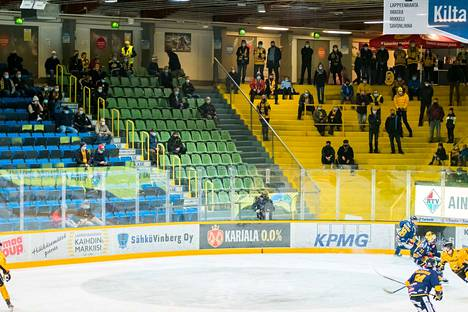Keskiviikkoillan SaiPa–Lukko-peliä oli katsomassa vain 663 ihmistä.