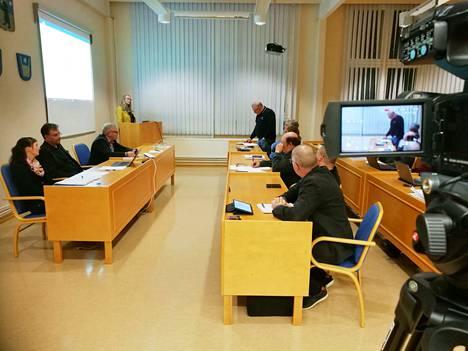 Kankaanpään Seutu näyttää Honkajoen kunnanvaltuuston kokouksen suorana lähetyksenä. Arkistokuva.