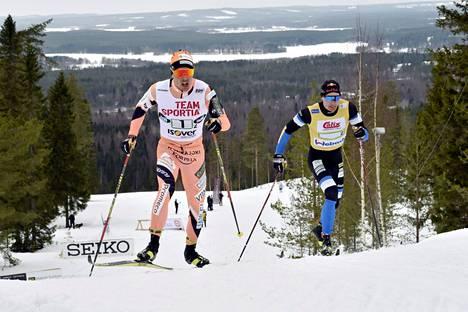 Ristomatti Hakola ja Iivo Niskanen pitivät hyvää vauhtia kakkososuudella.
