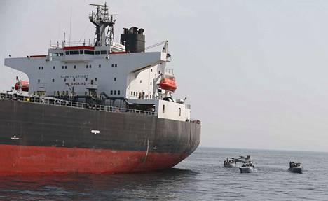 Öljytankkeri Saudi-Arabiasta oli yksi aluksista, jotka joutuivat hyökkäyksen kohteeksi toukokuussa.
