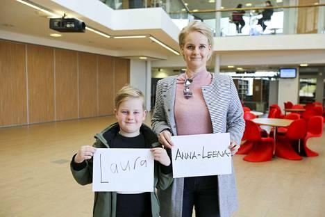 Aamos Hietalan äiti on Laura Hietala ja tämän äiti puolestaan Anna-Leena. Lue jutusta, mitä Aamos ja Laura ajattelevat äideistään.