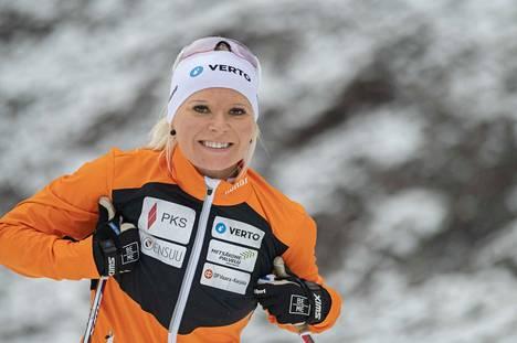 Mari Eder toivoo hiihtovauhtiinsa tasaisuutta tällä kaudella. Loppusyksynä hän on harjoitellut paljon Vuokatissa.