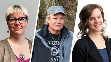 Juupajoen ääniharavat kuntavaaleissa 2021: Taija Heletoja, Juha Soikka ja Jutta Kaarema.