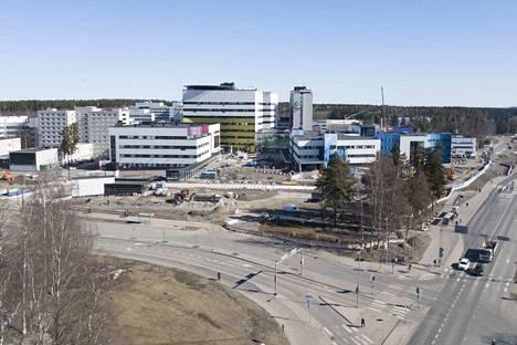 Tampereen yliopistollisessa keskussairaalassa on rakennettu viime vuosina paljon.