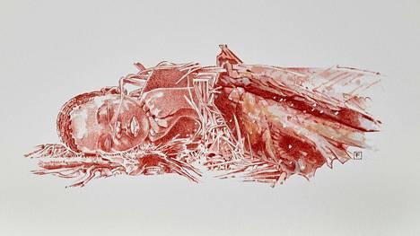 Taitelijan näkemys Mtotoksi nimetyn lapsen hautaamisesta.