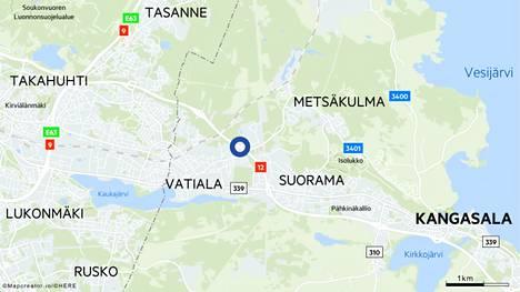 Lahdentiellä Kangasalla sattui sunnuntaina liikenneonnettomuus, jossa oli osallisena kuusi henkilöä.