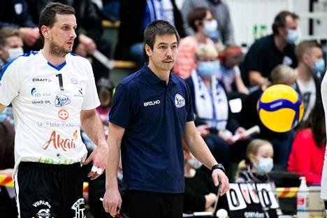 Oliver Lüütseppin valmentama Akaa-Volley on miesten mestaruusliigassa kolmantena.